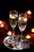 Flety szampana — Zdjęcie stockowe