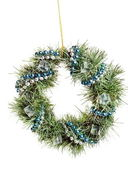Christmas wreath isolated on white — Stock Photo
