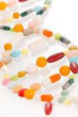 таблетки, изолированные на белом фоне — Стоковое фото