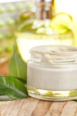 Botte de crema orgánica — Foto de Stock