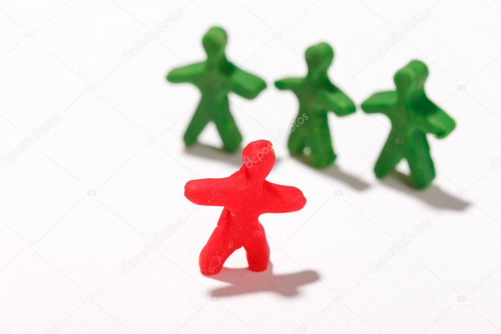 Plasticine characters — Stock Photo #8695027