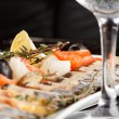 Fish delicacies on festive table — Stock Photo #8724705