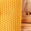 Fresh honey in comb — Stockfoto