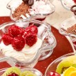 Stock Photo: Fruit desserts