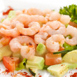 Salad with shrimps — Stok fotoğraf