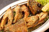 Fried fillet carp — Stock Photo