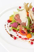 Salad with beef — Stock Photo