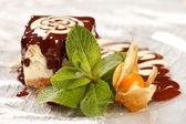 Chocolate cheesecake — Stock Photo