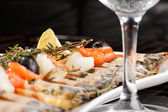 Fish delicacies on a festive table — Stock Photo