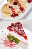 Cheery cheesecake — Stock Photo