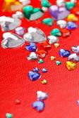 Color hearts — Stockfoto