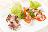 Seafood appetizer — Stock Photo