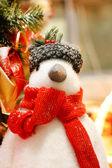Christmas penguin — Stock Photo
