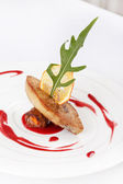 Foie gras with sauce — Stock Photo