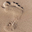 Footprints on the sand — Stock Photo