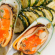 Stock Photo: Mussels with zucchini