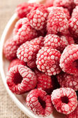 Frozen raspberries — ストック写真