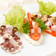 Seafood appetizer - Stock Photo