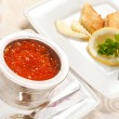 Red caviar with toast — Stock Photo #8780633