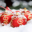 Royalty-Free Stock Photo: Red balls on the snow