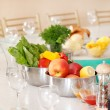 Fruit and vegetables on the table - Stock Photo