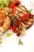 Chicken Steak with vegetables — Stock Photo