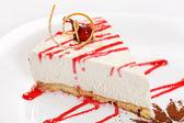 Cheesecake with sauce — Stock Photo