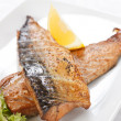 Stock Photo: Grilled mackerel