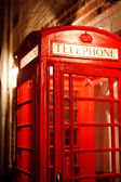 Old Style British Red Phone Boxes — Stock Photo