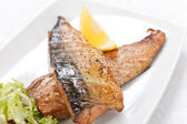 Grilled mackerel — Stock Photo