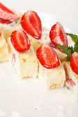 Sweet rolls with strawberry — Stock Photo