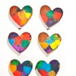 Color hearts — Stock Photo #9300140