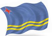Aruba flag — Stock Photo