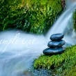 Pebble stones over waterfall — 图库照片 #8829843