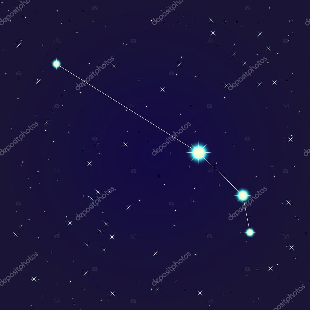 Constellation of aries  on night starry sky — Stock Vector #10669172