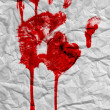 Stock Photo: bloody handprint
