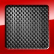 Metal honeycomb grid — Stock Photo