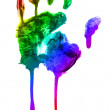 Stock Photo: Colorful handprint