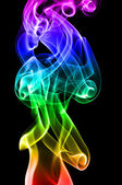 Multi colored smoke — Stock Photo