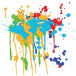Ink splashes - Stock Vector