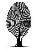 手指打印树 — 图库矢量图片