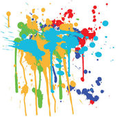 Ink splashes — Stock Vector