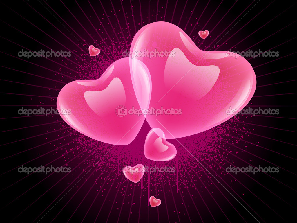 Velentines hearts on grunge background — Stock Vector #8839337