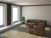 The interior of a large room — Stock Photo