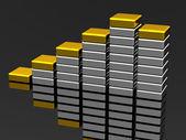 The metallic graph — Stock Photo