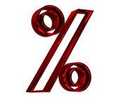 红色的百分比符号 — 图库照片
