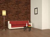 Interior con un sofá — Foto de Stock