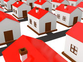 Many small houses — Stock Photo