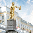 Statue of Perseus, Petergof, Saint Petersburg, Russia - Stock Photo