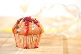 Homemade raspberry Muffin — Stock Photo
